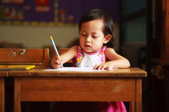 Barnhandstil Arkivfoto