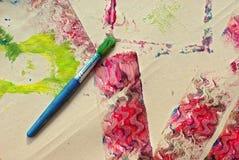 Barnhantverket texturerar arkivfoto