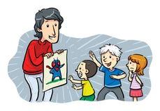 Barnhjältar Royaltyfri Illustrationer