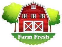 A barnhouse with a farm fresh label Stock Photography
