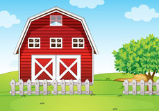 A barnhouse at the hilltop Royalty Free Stock Photos