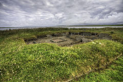 The Barnhouse neolithic Settlement in Orkney, Scotland. The Barnhouse neolithic Settlement in Orkney stock photo