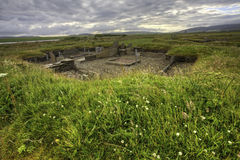 The Barnhouse neolithic Settlement, Orkney. Scotland stock photos