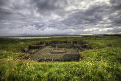 The Barnhouse neolithic Settlement in Orkney. Scotland royalty free stock photo