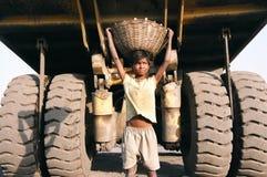 barnindia arbetare Arkivbild