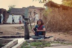 barnindia arbete Arkivbilder