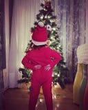 Barnjul Santa Claus arkivfoton
