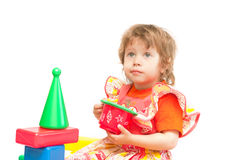 barnkuber play två Royaltyfri Fotografi