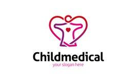 Barnläkarundersökninglogo Arkivfoton