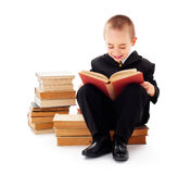 Barnläsning Arkivbilder