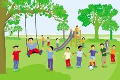 Barnlek och att ha roligt, vektor illustrationer