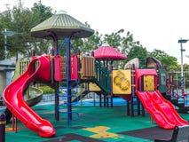 Barnlekplats med inget, Hong Kong arkivfoton