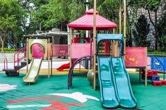 Barnlekplats med inget, Hong Kong royaltyfri foto