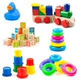 Barnleksaker. Leksaksamling Arkivfoto