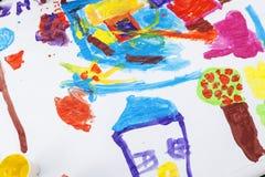 Barnmålarfärg Fotografering för Bildbyråer
