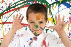 barnmålarfärg arkivbilder