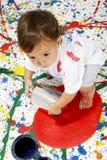 barnmålarfärg royaltyfria bilder