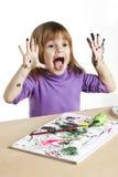 Barnmålning Royaltyfri Foto