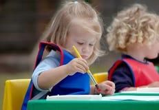 barnmålning Royaltyfri Fotografi
