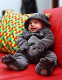 Barnmaskering för halloween Fotografering för Bildbyråer