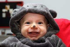 Barnmaskering för halloween Arkivfoton
