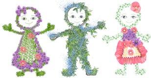 barnmiljösilhouettes Arkivbild