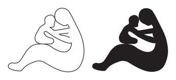 barnmoder vektor illustrationer