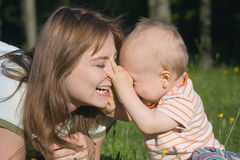 barnmoder Fotografering för Bildbyråer