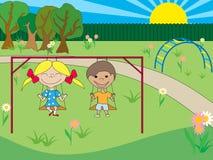 barnpark Royaltyfria Bilder
