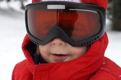 barnportait skidar Arkivfoton