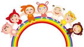 barnregnbåge royaltyfri illustrationer