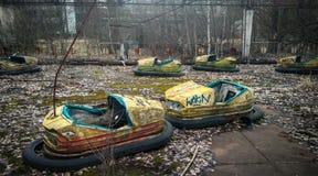 Barns autodrome i Pripyat Fotografering för Bildbyråer
