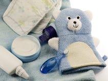 Barns badprodukter och hygienobjekt Arkivbild