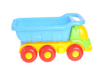 Barns bil Toy Isolated på vit bakgrund Arkivfoto