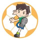 Barns bild för fotbollvektor vektor illustrationer