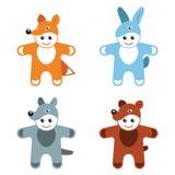 Barns björn för varg för räv för hare för djur för karnevaldräkter vektor illustrationer