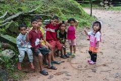 Barns Cambodja Arkivbild