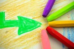 Barns crayon Fotografering för Bildbyråer