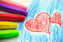 Barns crayon Royaltyfri Foto