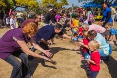 Barns dag för föräldersportar Royaltyfri Foto
