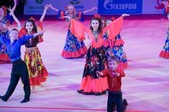 Barns dansgrupp Fotografering för Bildbyråer