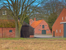 Barns at a european farm Royalty Free Stock Photography