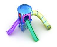barns färgrika lekplats Arkivfoto