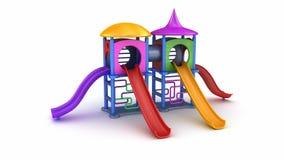barns färgrika lekplats arkivfilmer