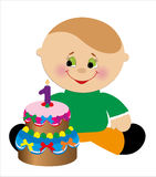 Barns födelsedagkort. Arkivfoton