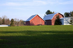 Barns and field, rural Oregon. Stock Images