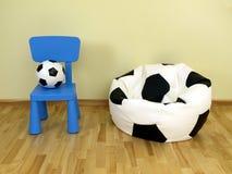 Barns fotboll Royaltyfria Foton