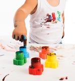 Barns hand och färger Royaltyfria Bilder
