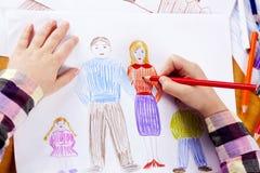 Barns handteckning Royaltyfria Bilder