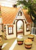 Barns hus för spelrum: Pepparkakahus Royaltyfria Bilder